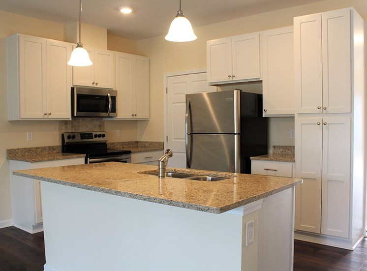 Kitchen with stainless steel appliances in Little River SC