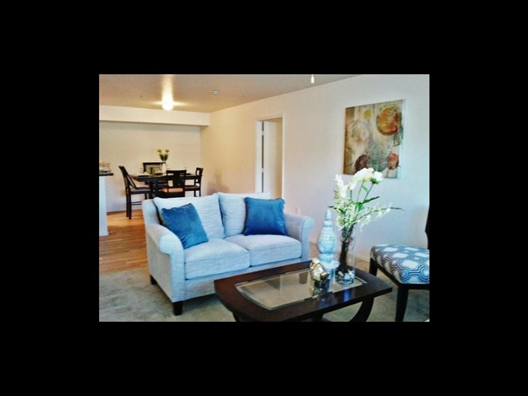 Living room of apartment model_The Crossings at Cape Coral Cape Coral, FL