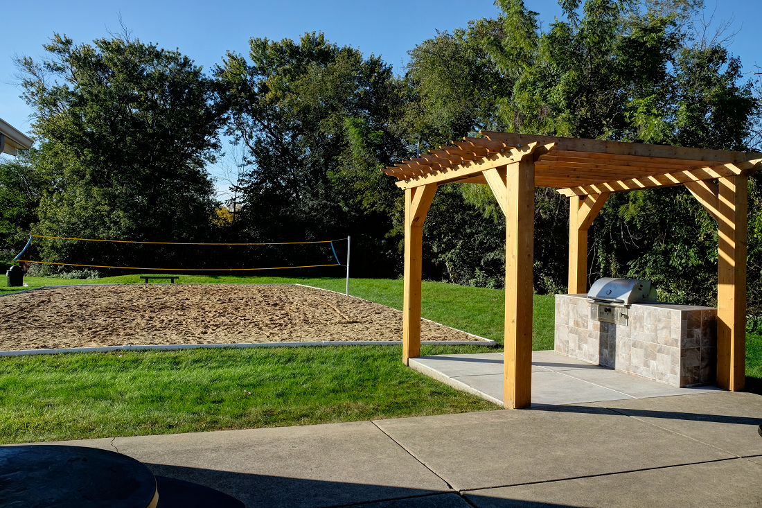 Picnic and BBQ Area with Sand Volleyball Court at Woodlands of Crest Hill-New, Crest Hill, 60403