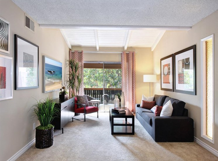 Living Room l Apartments in Cypress, CA | Casa Grande Apartment Homes