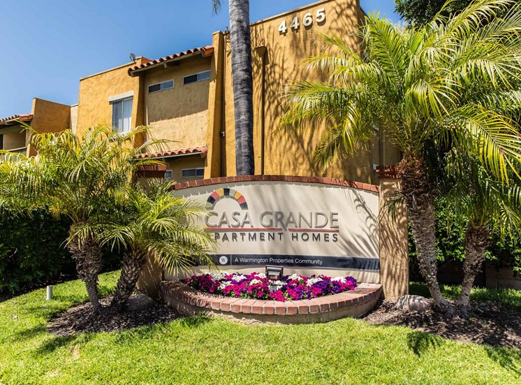 Entry Monument Sign | Casa Grande Apartment Homes in Cypress CA