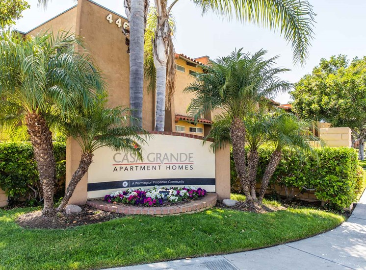 Entry Monument | Casa Grande Apartment Homes in Cypress CA