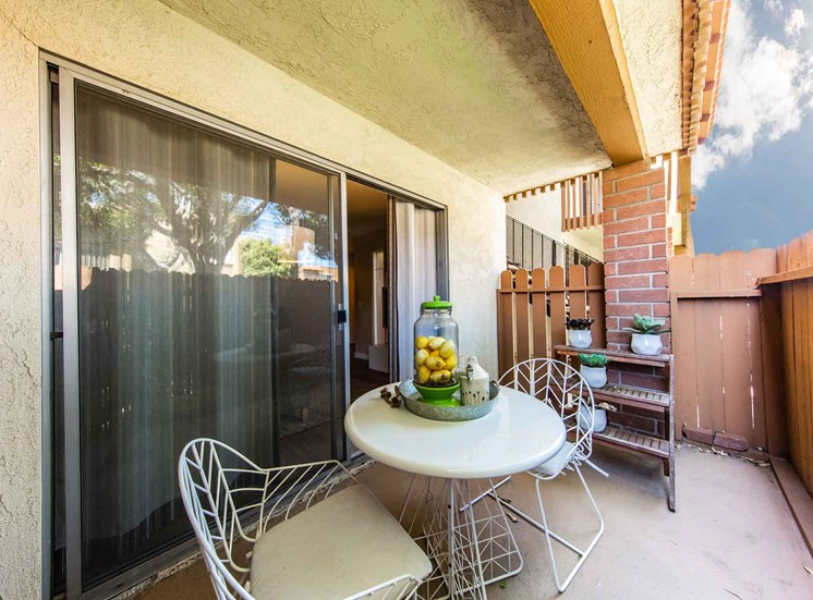 Patio | Casa Grande Apartment Homes in Cypress CA