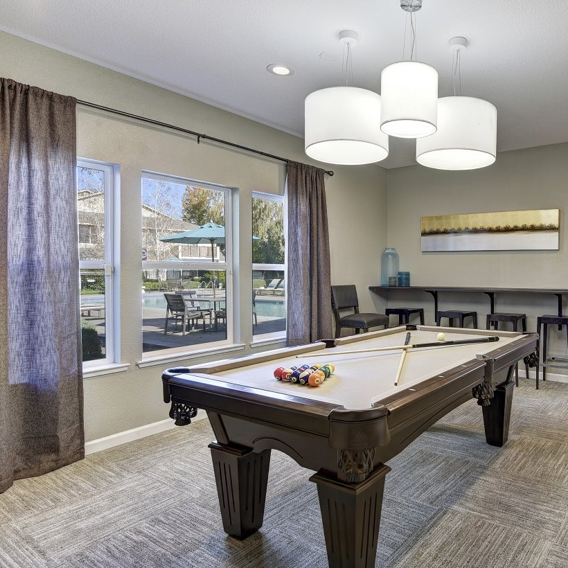 Atwood Apartments Citrus Heights CA Clubhouse Pool Table