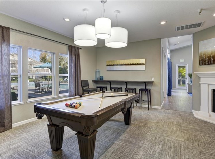 Pool table at Atwood Apartments in Citrus Heights CA