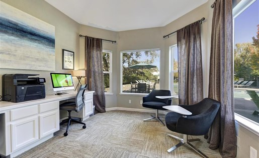 Business center at Atwood Apartments in Citrus Heights CA