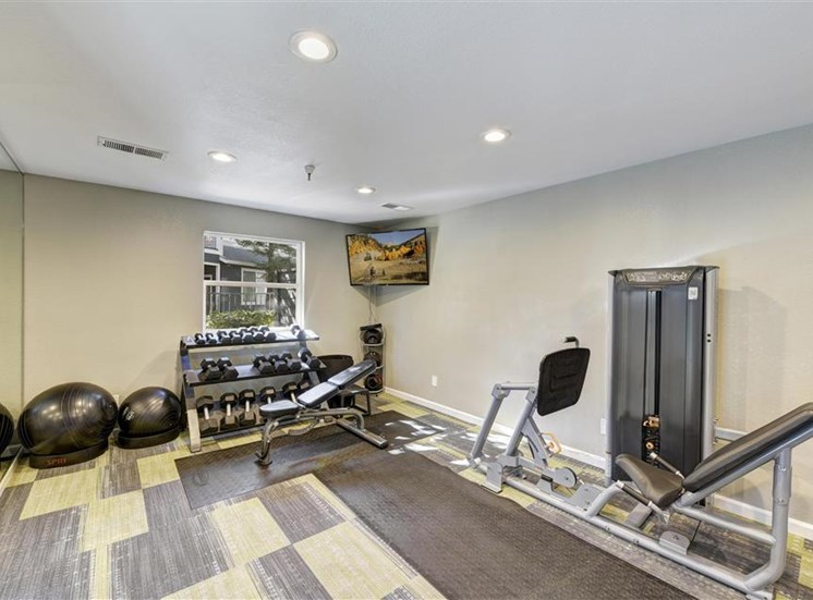 Fitness center at Atwood Apartments in Citrus Heights CA