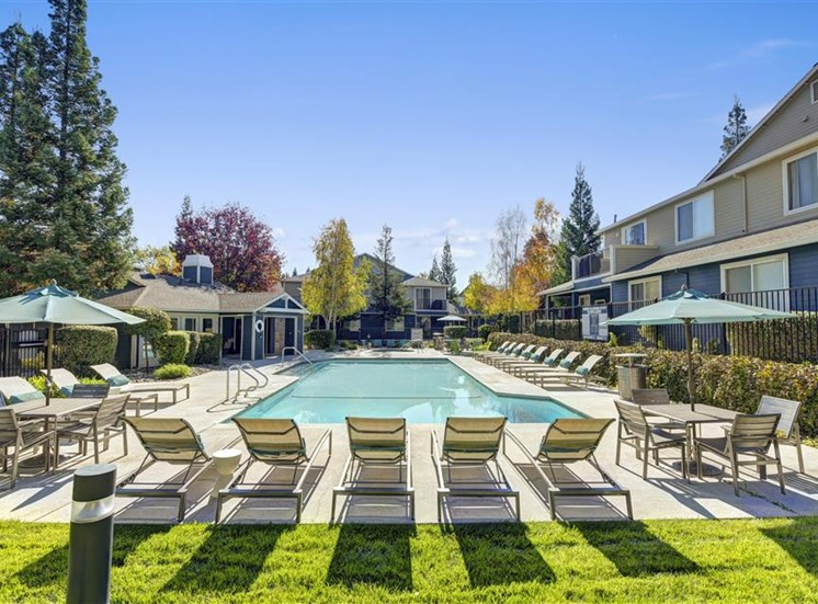 Second pool at Atwood Apartments in Citrus Heights CA