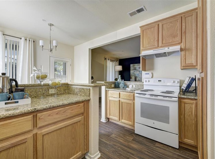 Kitchen at Atwood Apartments in Citrus Heights CA
