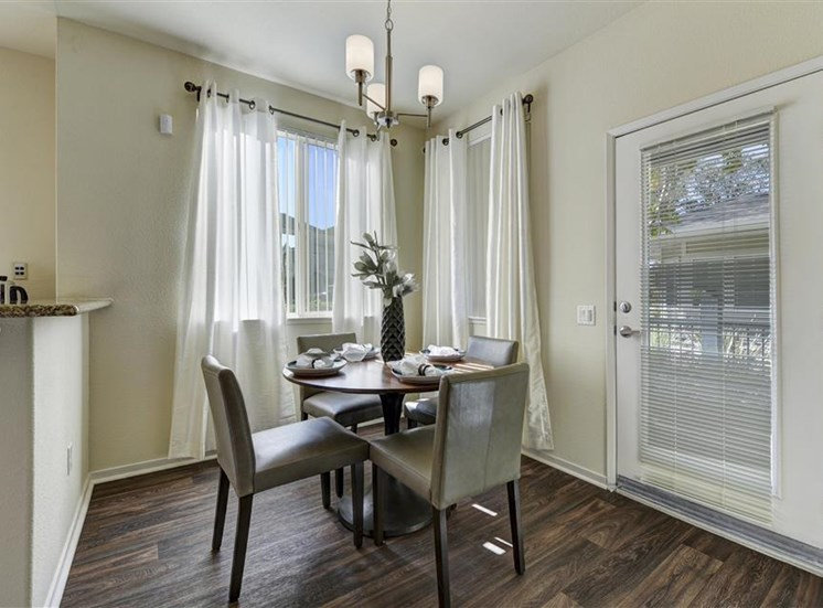 Dining room at Atwood Apartments in Citrus Heights CA