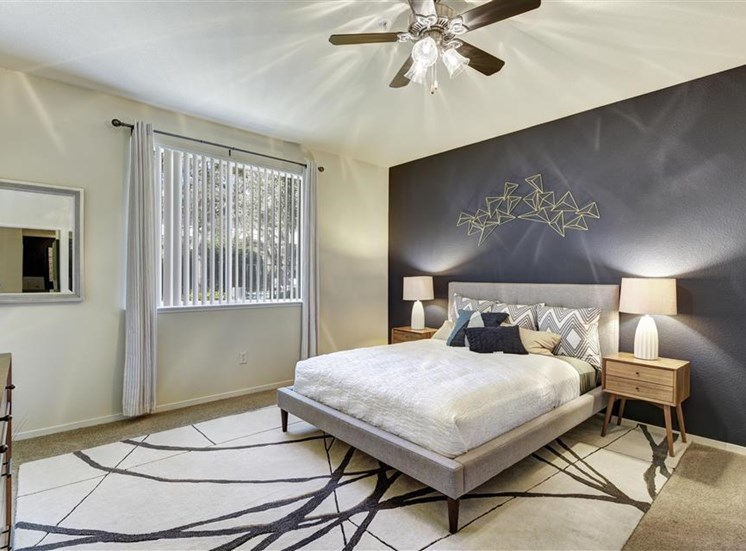 Master bedroom at Atwood Apartments in Citrus Heights CA