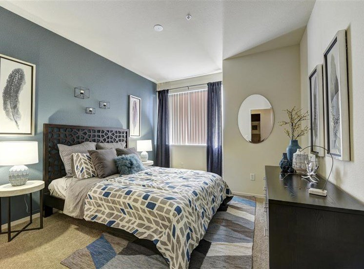 Guest bedroom at Atwood Apartments in Citrus Heights CA