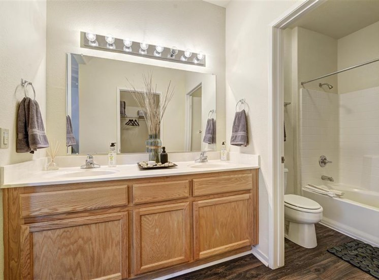 Bathroom at Atwood Apartments in Citrus Heights CA