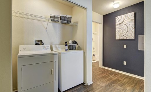 Washer and dryer at Atwood Apartments in Citrus Heights CA