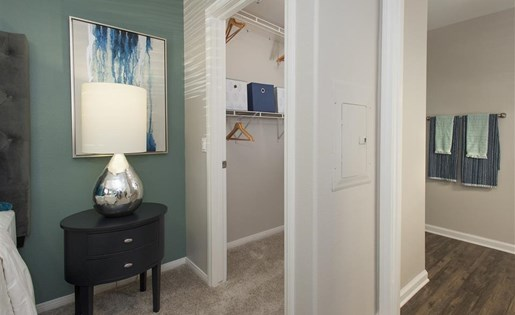 Walk-in closet at Bella Vista Apartments in Elk Grove CA