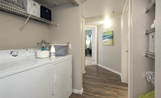 Washer and dryer at Bella Vista Apartments in Elk Grove CA