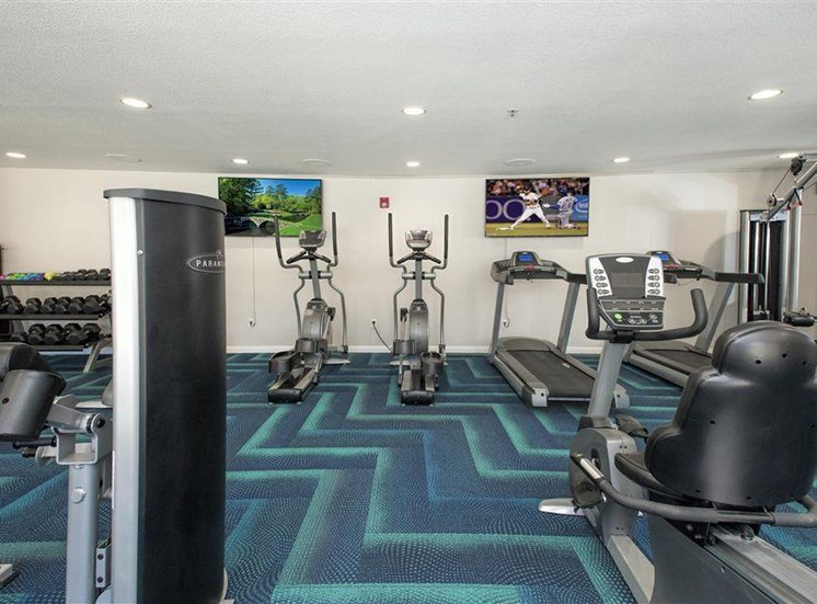 Fitness center cardio equipment at Bella Vista Apartments in Elk Grove CA