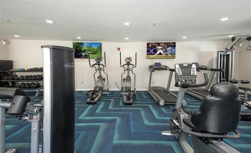 Fitness center cardio equipment at Bella Vista Apartments in Elk Grove CA