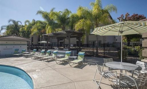 Lounge chairs at Bella Vista Apartments in Elk Grove CA