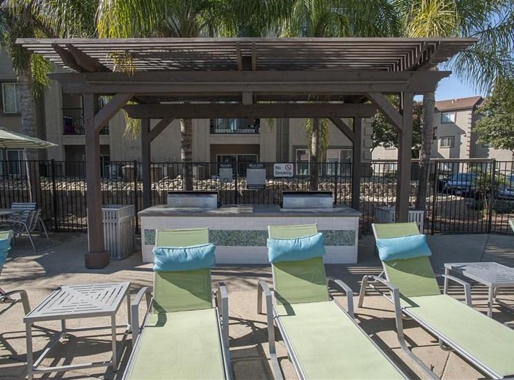 Poolside BBQs at Bella Vista Apartments in Elk Grove CA
