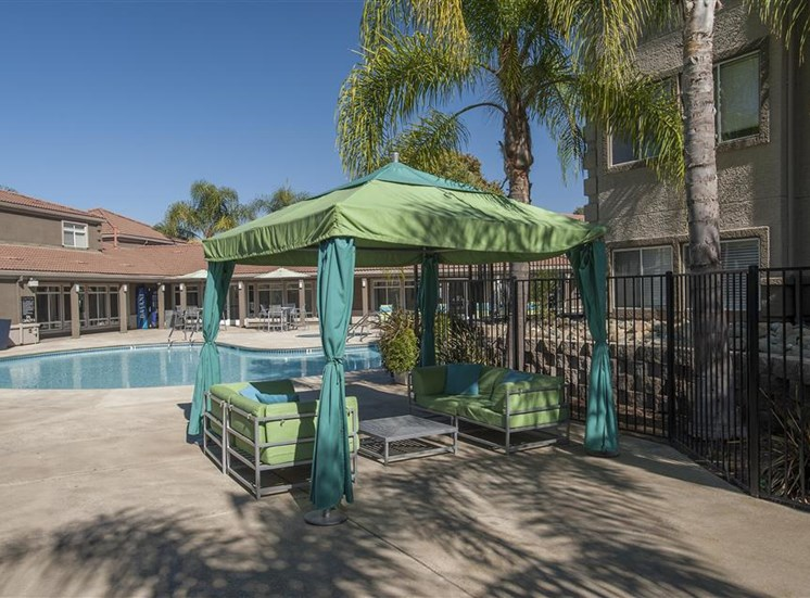 Open air cabana at Bella Vista Apartments in Elk Grove CA