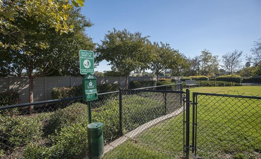 Dog parkpen spaces are found through out the community including the tot lot