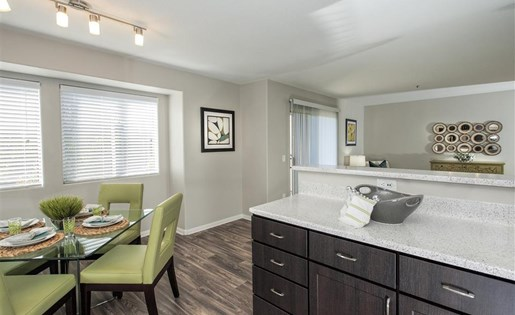 Renovated kitchen details at Bella Vista Apartments in Elk Grove CA