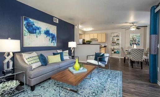 Living room at Bella Vista Apartments in Elk Grove CA
