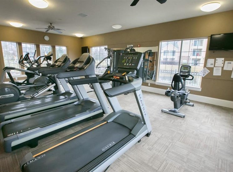 Fitness center at Center Point Apartments in Indianapolis, IN