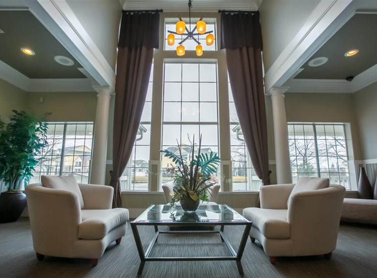 Beautiful clubhouse at Center Point Apartments in Indianapolis, IN