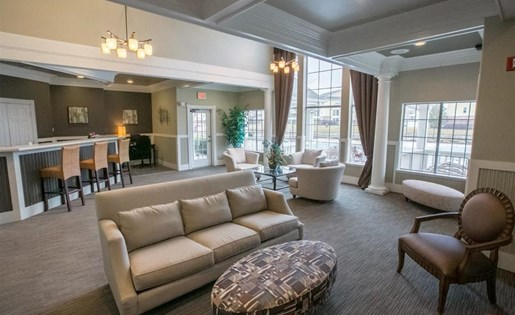 Ample social spaces in our clubhouse at Center Point Apartments in Indianapolis, IN