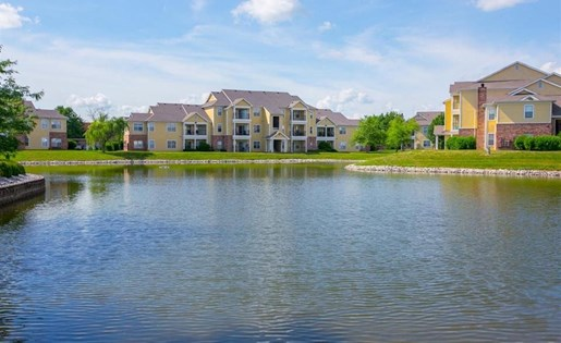 Lake views at Center Point Apartments in Indianapolis, IN
