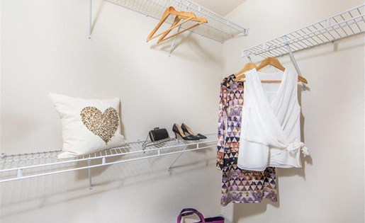Plenty of storage for all your belongings thanks to these walk in closets!