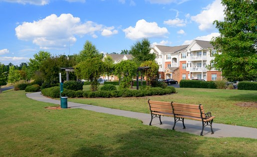 Green spaces to walk your furry companion at Colton Creek Apartments in McDonough GA