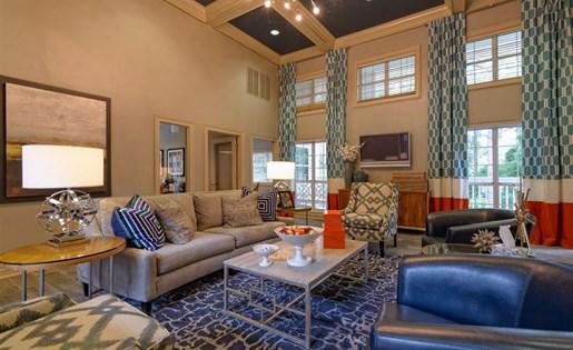 Clubhouse at The Prato at Midtown Apartments in Atlanta, GA