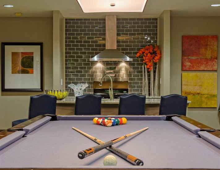 Billiards at The Prato at Midtown Apartments in Atlanta, GA