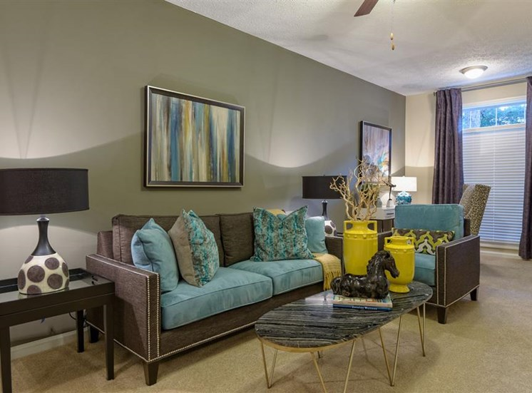 The Prato at Midtown Apartments in Atlanta, GA living room.