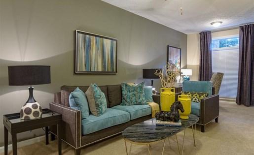 The Prato at Midtown Apartments in Atlanta, GA living room.