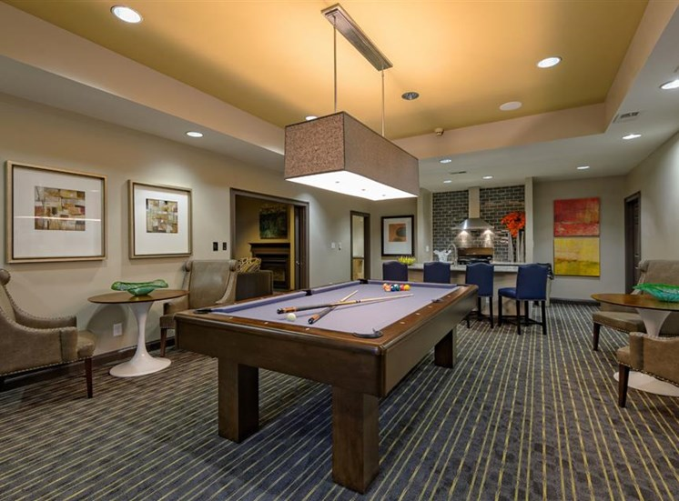 Pool table at The Prato at Midtown Apartments in Atlanta, GA