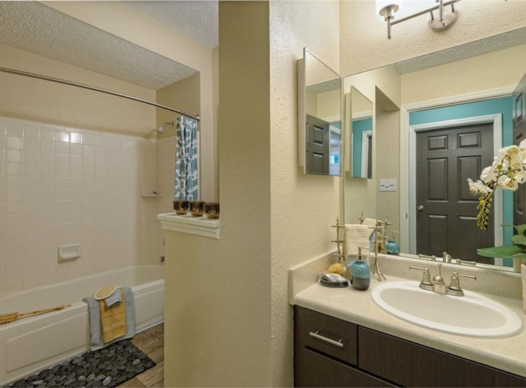 Bathroom at The Prato at Midtown Apartments in Atlanta, GA
