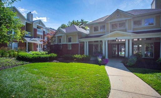 The clubhouse at Residence at White River in Indianapolis, IN
