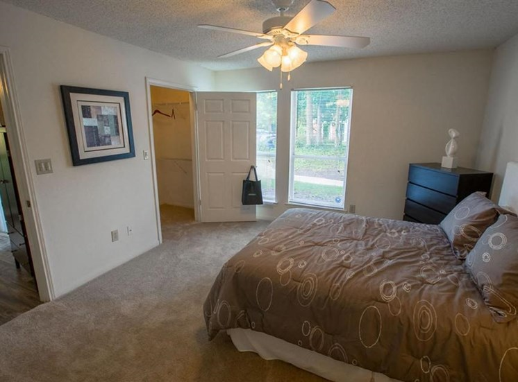 Walk-in closets at Residence at White River in Indianapolis, IN
