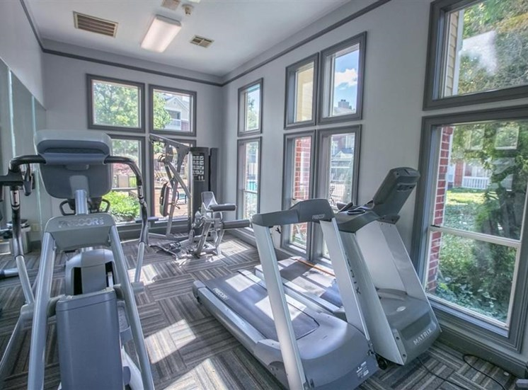 24-hour fitness center at Residence at White River in Indianapolis, IN