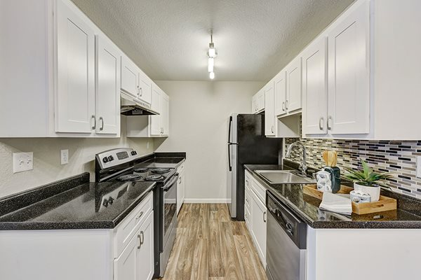 Upgraded kitchen at Sora Apartments in Union City CA