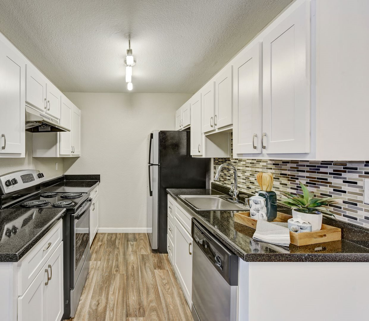 Kitchen at Sora Apartments in Union City