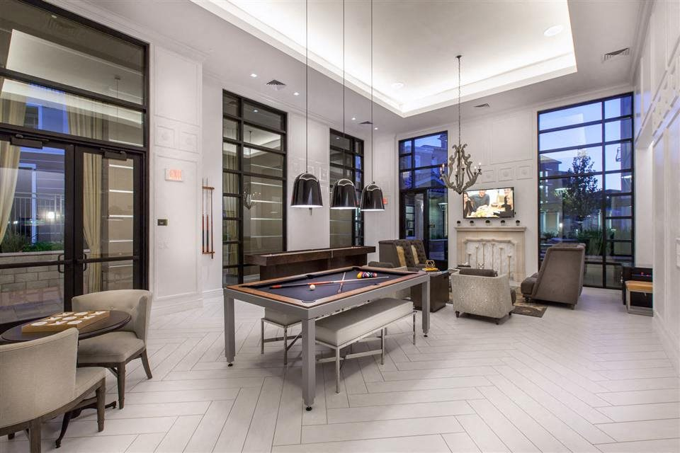 The Verdant Apartments game room with billiard in San Jose, CA