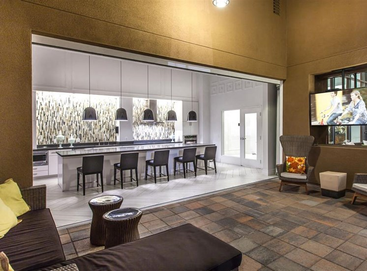 The Verdant Apartments Outdoor media lounge in San Jose, CA