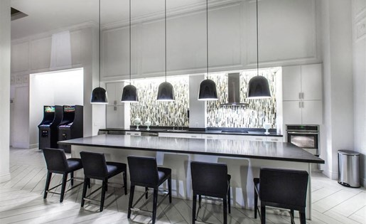 The Verdant Apartments entertainment bar in San Jose, CA