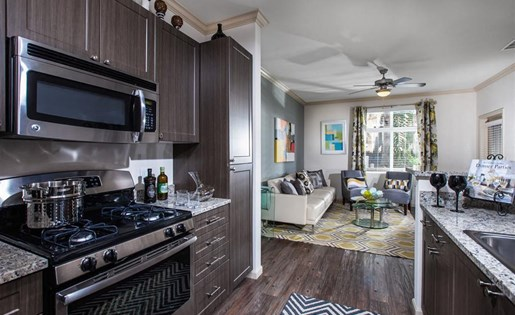 The Verdant Apartments Kitchen with Gas Stovetop in San Jose, CA