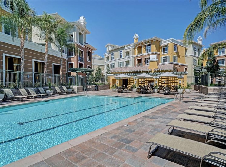 The Verdant Apartments Pool and spa with Wi-Fi access in San Jose, CA
